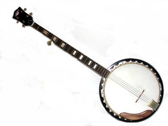 checkmate five string banjo late 20th c