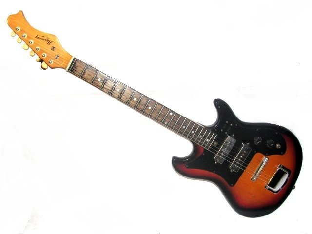 harmony model h 802 electric guitar sunburst