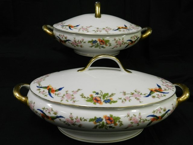 22: Pair of Bavaria Covered Serving Dishes