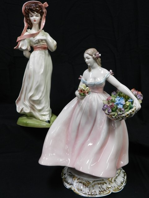 23: 2 Lady Porcelain Figurines- Florence