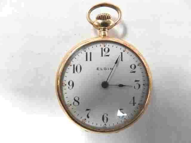 74: 14K Gold Ladies Elgin Pocket Watch