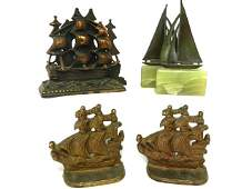 84 Set Of 3 Ship Bookends