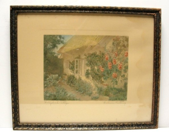 4: Wallace Nutting Pen Signed Holly Cottage