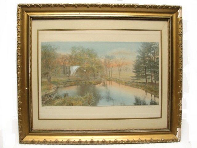 """6: Wallace Nutting Print  """"A BARRE BROOK"""" #3497"""