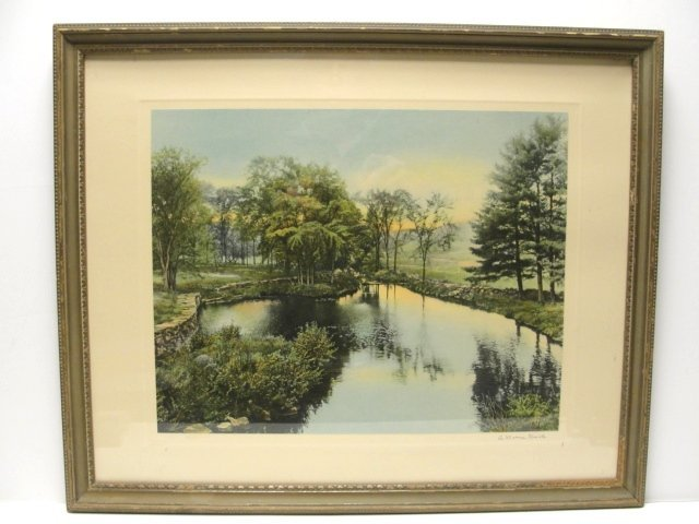 """9: Wallace Nutting Print  """"A BARRE BROOK"""" #3497"""