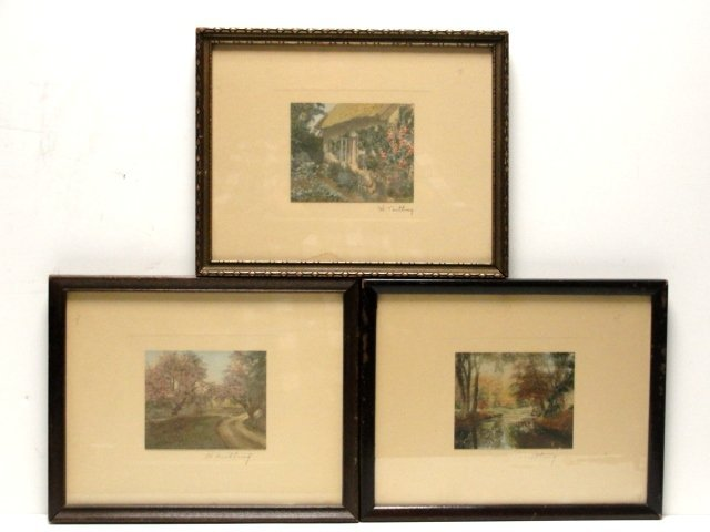 13: Three Wallace Nutting Prints Signed Untitled