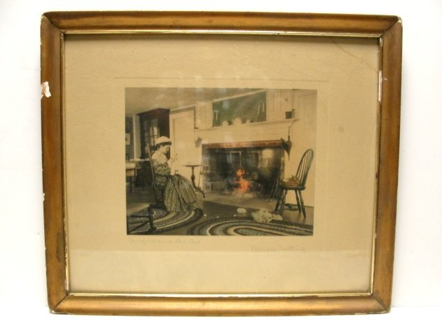 15: Wallace Nutting  Print ''Comfort Of The Cat''