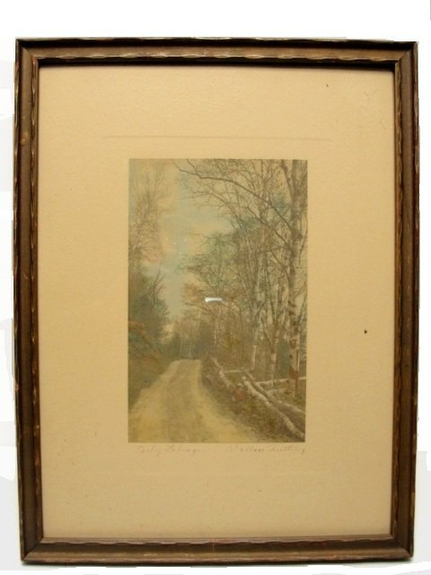 20: Wallace Nutting Colored Print ''Early Foliage''