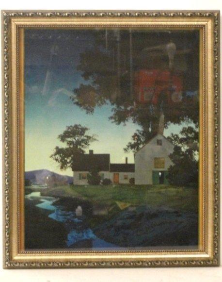 22: Maxfield Parrish Framed Print Twilight: