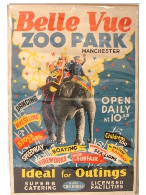 27: Belle Vue Zoo Advertizing  Poster Manchester