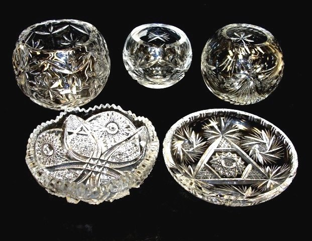 1: Collection Of Cut, Pressed And Lead Crystal