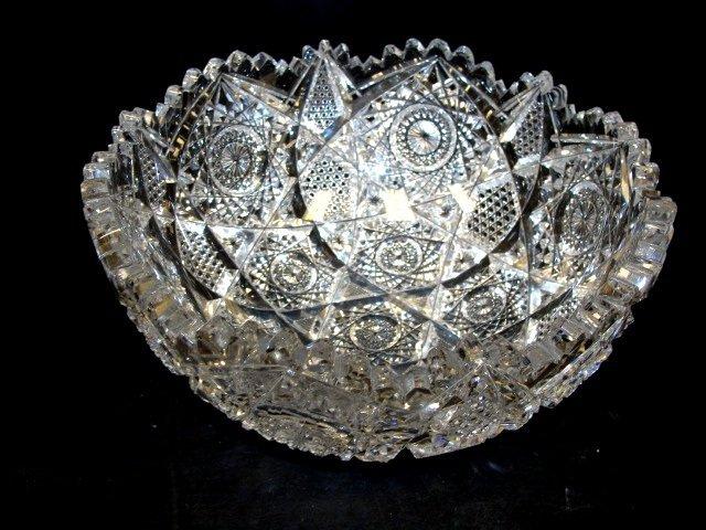 3: American Brilliant Cut Glass Bowl