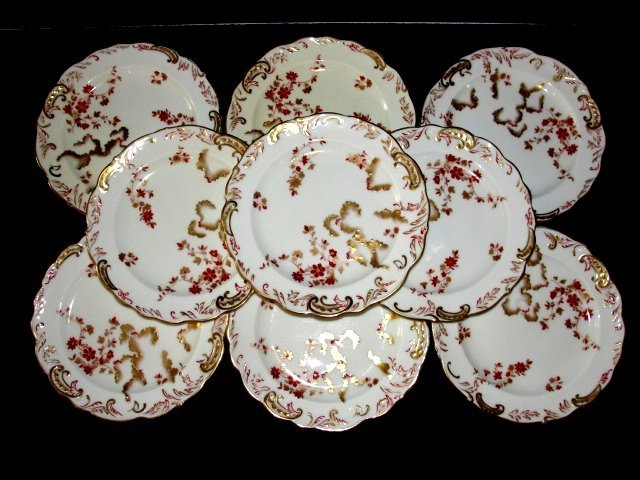 5B: Stoke on Trent Hand Painted 7 1/2'' Plates