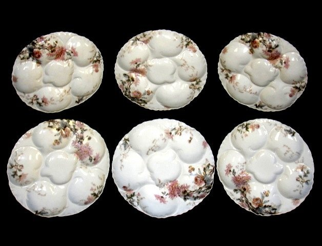7: Haviland Limoges Set Of Six Oyster Plates