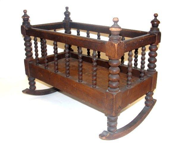 11: Victorian Jenny Lynn Childs Baby Cradle