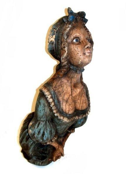 16: Mythical Lady Head Figure Of Ships Mask