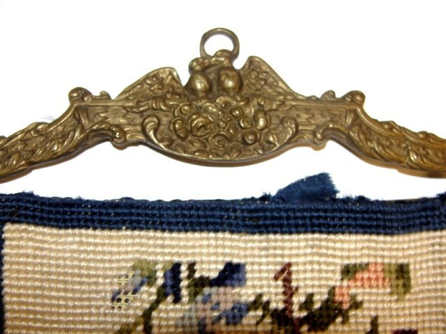 17: Two Long Needlepoint Bell Pulls Ca. 1920's - 5