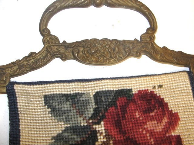 17: Two Long Needlepoint Bell Pulls Ca. 1920's - 6