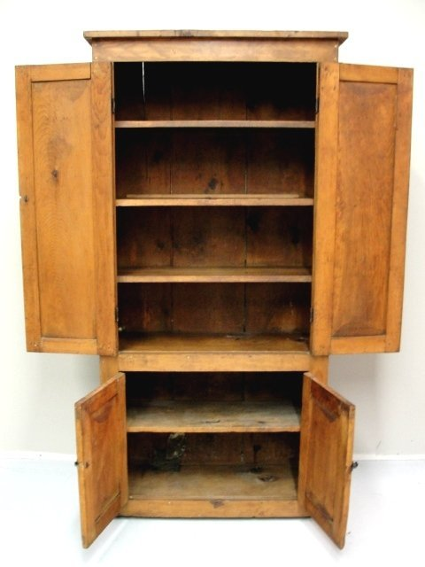 106: Early Country Pantry Storage Cabinet 1850's : Lot 106