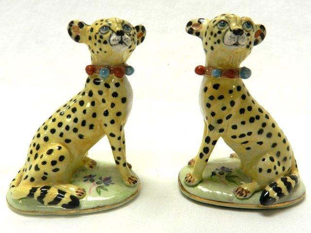 Pair of Basil Mathews Signed Cheetahs