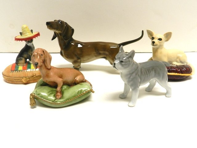 Collection Of Porcelain Dogs Hutchenruther