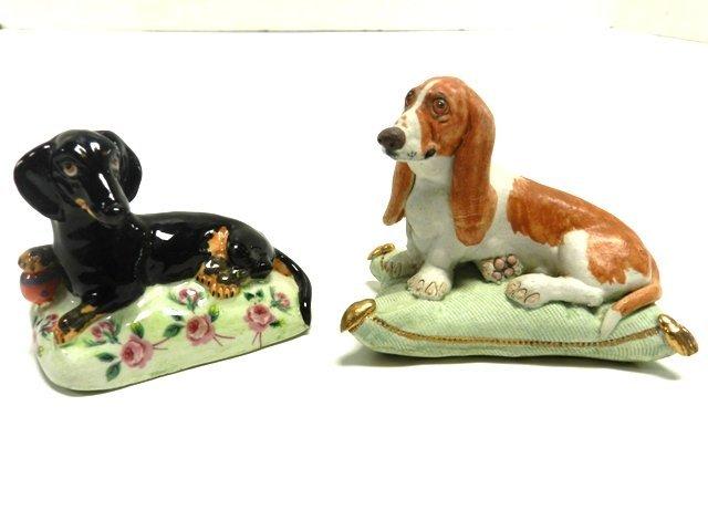 Two Basil Matthews Pillow Dogs