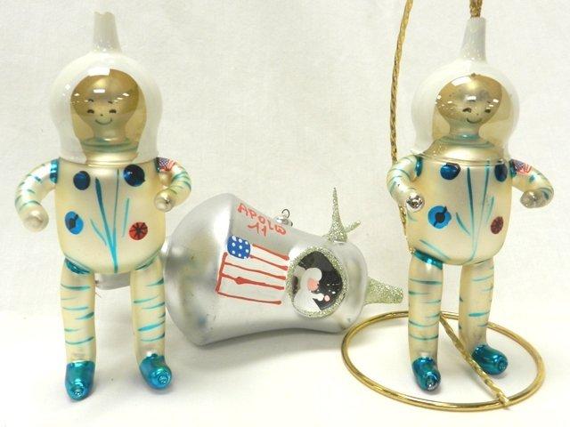 Christopher Radko Appolo-Astronaunts Ornaments
