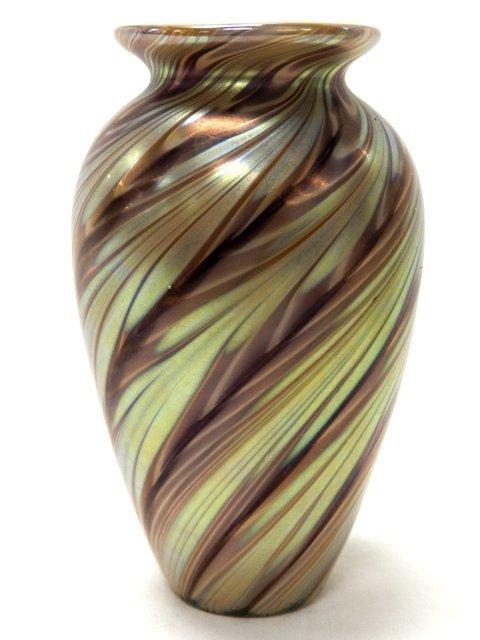 Steve Lundberg Signed Art Glass Vase