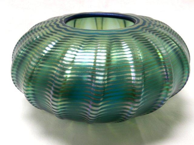 """Steven Correia """"Fether"""" Art Glass Low Bowl"""