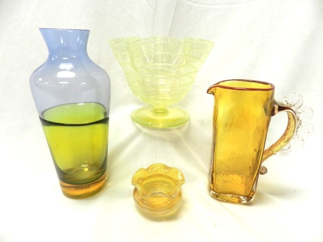 4pc Collection Of Art Glass