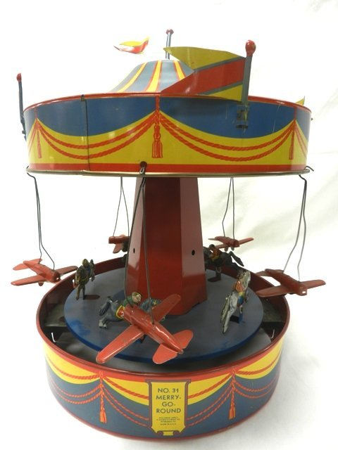 """Wolverine Tin Wind-Up """"Sunny Andy"""" Merry-Go-Round"""