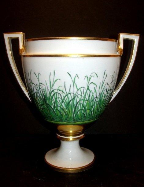 Royal Vienna Double Handle Urn Shaped Vase