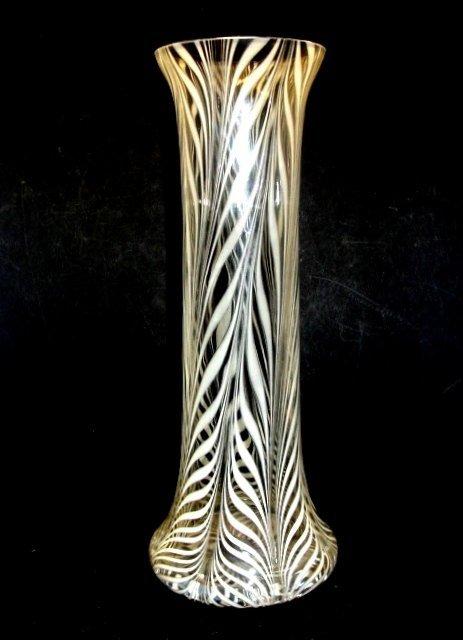 Art Glass Artist Signed Tall Form Glass Vase,