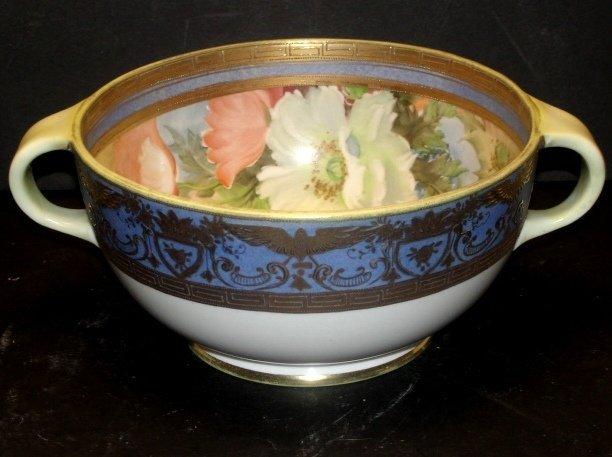 Fabulous Nippon Bowl With Gilt Border Of Eagles