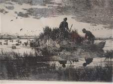 Frank Benson 'Ducks At Dawn' Signed Etching