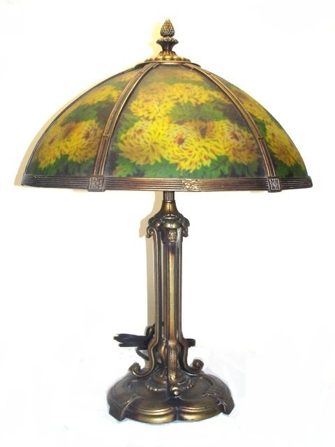 Pairpoint Hand Painted Six Panel Lamp