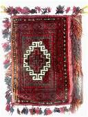 Oriental Semi Antique Saddle Bag Rug C. 1930s