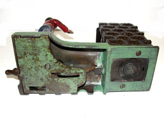 J&E Stevens Cast Iron Mechanically Artillery Bank - 7