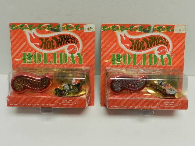 2 Hot Wheels Collector Number Blue Cards