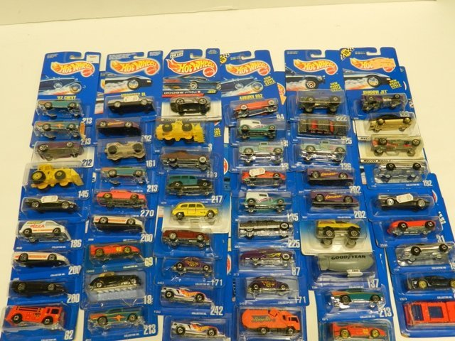 50 Hot Wheels Collector Number Blue Cards