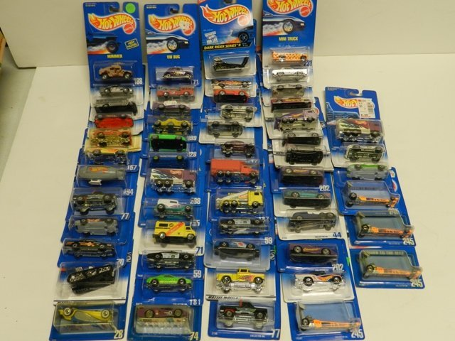 50 Hot Wheels Number Series Blue Cards