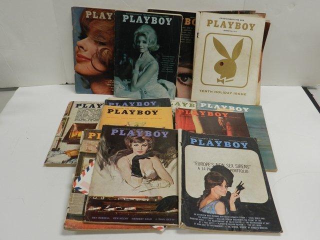 16 1960's Vintage Playboy Magazines