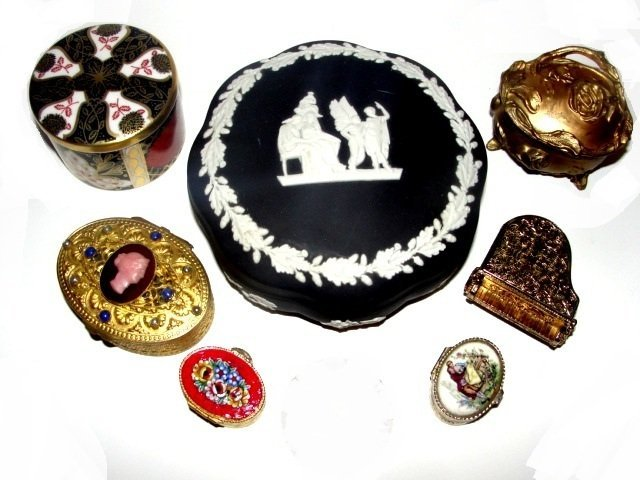 Collection Of Seven Various Pill Dresser Boxes