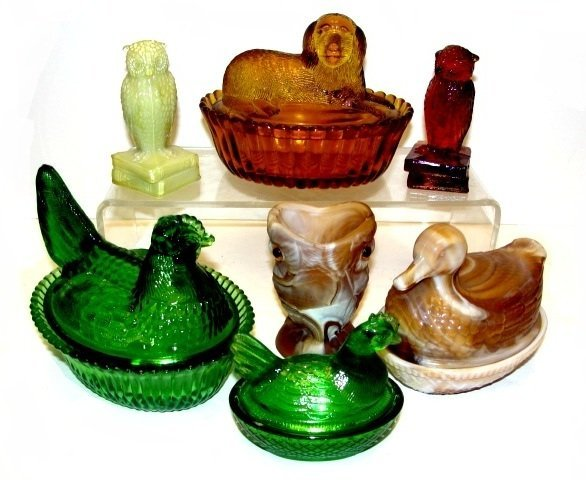 Collection Of Degenhart And Imperial Glass