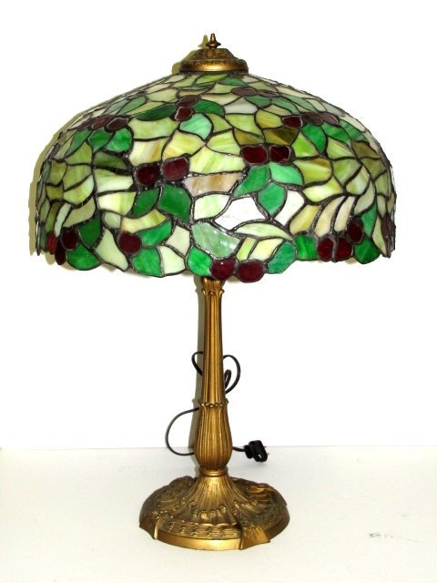 Chicago Mosaic Leaded Stained Glass Lamp