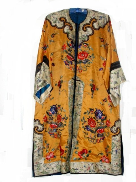 Chinese Qing Imperial Robe In Yellow