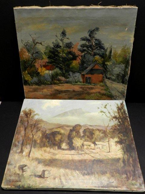 Harry Mintz Oil on Canvas Landscape Paintings