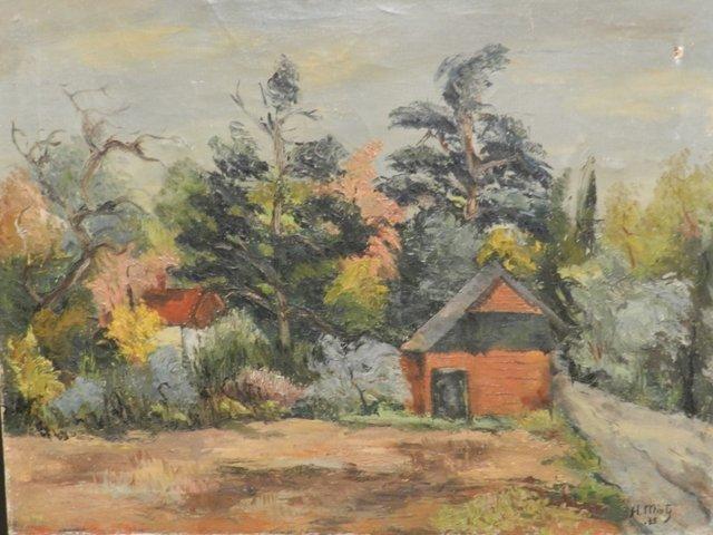 Harry Mintz Oil on Canvas Landscape Paintings - 2
