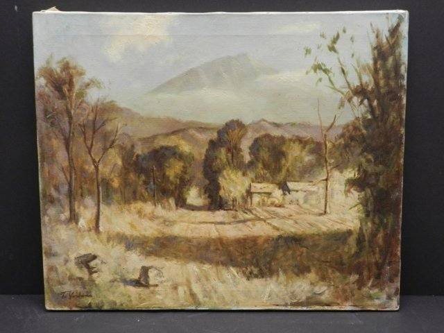 Harry Mintz Oil on Canvas Landscape Paintings - 6