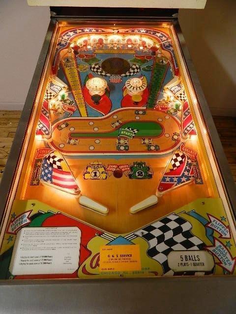 Bally Indy Car Twin Win Pinball Machine - 2